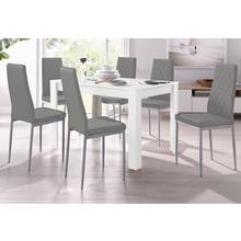 ensemble de salle à manger, lot 5, avec table couleur blanche, largeur 120 cm