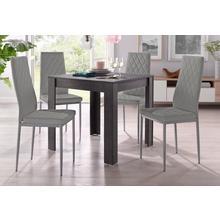 ensemble de salle à manger, lot 5, avec table couleur ardoise, largeur 80 cm