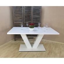 table de salle à manger pied colonne Bahrain, Largeur 160 cm