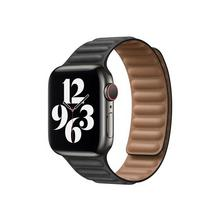APPLE 40mm Leather Link - Horlogebandje voor smart watch maat S/M zwart (38 mm, 40 mm)