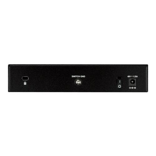 D-LINK DGS 1008P - Commutateur non géré 4 x 10/100/1000 (PoE) + de bureau PoE