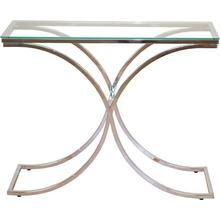 HOME AFFAIRE table console, avec plaque de verre securit