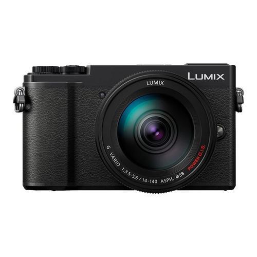 PANASONIC Lumix G DC-GX9H - Digitale camera spiegelloos 20.3 MP Four Thirds 4K / 30 beelden per seconde 10x optische zoom 14-140 mm lens Wi-Fi, Bluetooth zwart