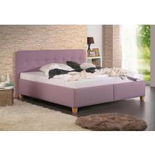 HOME AFFAIRE lit rembourré Figaro, avec ou sans matelas en 2 versions, degré de dureté 3