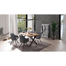 HOMEXPERTS chaise de salle à manger Carlo, lot 2, (2 pièces), avec fonction rotation et housse en cordon