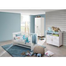 RAUCH set complet pour chambre de bébé Potsdam, lot 3, Lit + commode à langer 2 portesArmoire