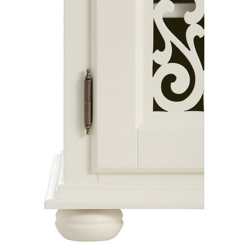HOME AFFAIRE canapé Arabeske, avec de belles moulures décoratives sur les façades des portes, pieds en bois sphériques, poignées métal, largeur 120 cm