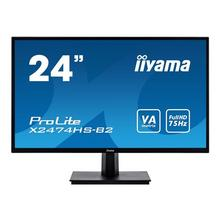 "IIYAMA ProLite X2474HS-B2 - LED-monitor 24"" (23.6"" zichtbaar) 1920 x 1080 Full HD (1080p) VA 250 cd/m² 3000:1 4 ms HDMI, VGA, DisplayPort luidsprekers zwart"