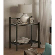 HOME AFFAIRE chevet Birgit, Composé d'un beau sommier en métal, disponible deux couleurs différentes, hauteur 58 cm