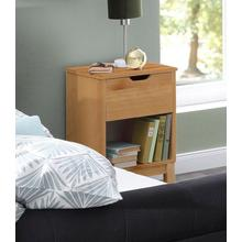 HOME AFFAIRE table de nuit Post, en beau pin massif, avec nombreuses possibilitésrangement grâce au tiroir, largeur 38 cm