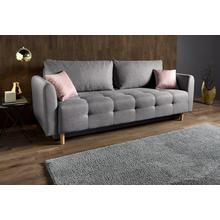 INOSIGN canapé lit Nordic, Avec espace de rangement et coussins décoratifs
