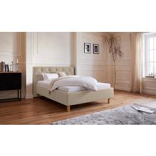 GUIDO MARIA KRETSCHMER HOME & LIVING lit rembourré Sunley 100, Piqûres croisées dansla tête de lit, hauteur 102 cm, au choix avec ou sans matelas/sommier à lattes - 3types matelas