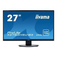 "IIYAMA ProLite X2783HSU-B3 - LED-monitor 27"" 1920 x 1080 Full HD (1080p) @ 75 Hz A-MVA+ 300 cd/m² 3000:1 4 ms HDMI, VGA, DisplayPort luidsprekers zwart"