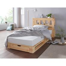 lit en palettes Alasco, avec sommier pin massif