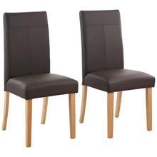 HOME AFFAIRE 4-voetstoel Rubin, 2-delig, In set van 2, 4 of 6, met honingkleurige donkerbruine poten