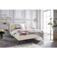 LEONIQUE lit rembourré Sinaloa, avec une couture à bouton élégante, disponible en cinq couleurs et quatre tailles