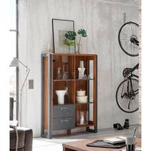 HOME AFFAIRE highboard Detroit, Met 2 laden, hoogte 140 cm, in trendy industriële look
