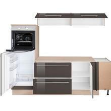 OPTIFIT cuisine d'angle Bern, sans appareil électrique, largeur de pose 265 x 175 cm, avec pieds réglables en hauteur, portes et tiroirs à fermeture amortie, poignées métalliques