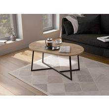 MY HOME table basse Dinise, avec plateau de forme ovale