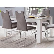 table de salle à manger Zabona, largeur 160 cm