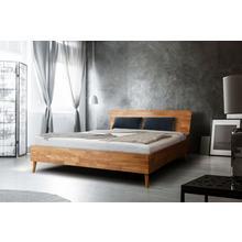HOME AFFAIRE lit en bois massif Scandi, chêne massif, avec des pieds bois, disponible deux tailles différentes