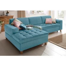 HOME AFFAIRE canapé d'angle Corby, en option avec fonction lit, matelassage sur l'assise