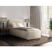 DELAVITA lit rembourré Joon, Capitonnage dans la tête de lit, en 5 largeurs, égalementjusqu'à 220 cm long, avec sommier à lattes sur roulettes