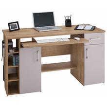bureau Tim, Met 5 vakken en uittrekplank voor het toetsenbord