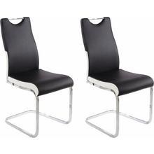 HOMEXPERTS chaise de salle à manger Paolo 02, lot 2, (2 ou 4 pièces), housse en cuir synthétique