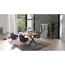 HOMEXPERTS chaise de salle à manger Carlo, lot 2, (2 pièces), avec fonction rotationet housse en tissu