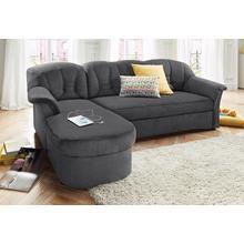 DOMO COLLECTION canapé d'angle Elva, en option avec fonction lit et âme à ressorts