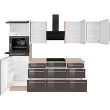 OPTIFIT cuisine d'angle Bern, sans appareil électrique, largeur de pose 285 x 225 cm, avec pieds réglables en hauteur, portes et tiroirs à fermeture amortie, poignées métalliques
