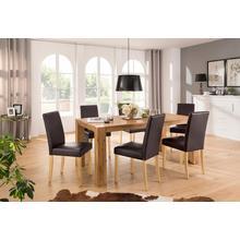 HOME AFFAIRE ensemble de salle à manger Silje, lot 7, composé 6 chaises Lucca et la table Maggie