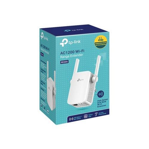 TP-LINK AC1200 Wi-Fi Range Extender RE305 - Extension de portée Wifi 2.4 GHz, 5 GHz