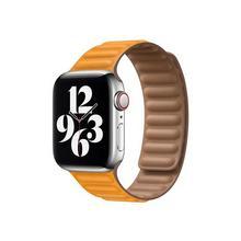 APPLE 40mm Leather Link - Horlogebandje voor smart watch maat M/L Californische klaproos (38 mm, 40 mm)