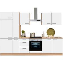 OPTIFIT bloc de cuisine Odense, sans appareil électrique, largeur 300 cm, avec plantravail 28 mm d'épaisseur, pinsert à couverts gratuit