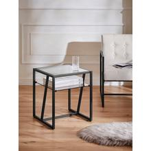 GUIDO MARIA KRETSCHMER HOME & LIVING bijzettafel Silwai, metalen frame, 0,5 cm dikglazen tafelblad