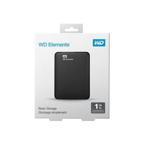 WESTERN DIGITAL WD Elements Portable WDBUZG0010BBK - Vaste schijf 1 TB extern (draagbaar) USB 3.0