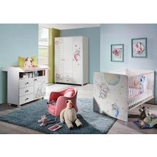 RAUCH set complet pour chambre de bébé Vancouver, lot 3, Lit + commode à langer 3portes Armoire