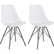 HOMEXPERTS chaise de salle à manger Ursel 01, lot 2, (2 pièces), coque siège aveccoussin en cuir synthétique