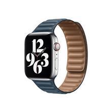 APPLE 44mm Leather Link - Horlogebandje voor smart watch maat S/M Baltisch blauw (42 mm, 44 mm)