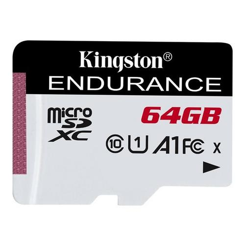 KINGSTON High Endurance - Carte mémoire flash 64 Go A1 / UHS-I U1 Class10 microSDXC