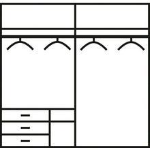 FRESH TO GO armoire à portes flottantes Level, avec des tiroirs