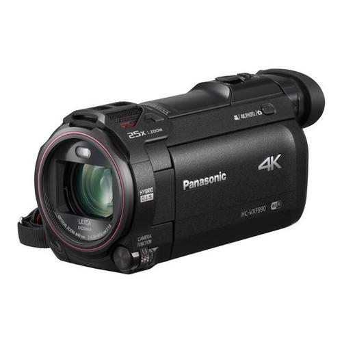 PANASONIC HC-VXF990 - Camcorder 4K / 25 beelden per seconde 18.91 MP 20x optische zoom Leica flash-kaart Wi-Fi zwart