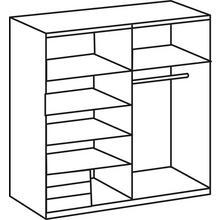 WIMEX armoire à portes flottantes Emden, avec des tiroirs