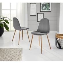 stoel met komvormige zitkuip Miller, 2-delig, (Set van 2 of 4), overtrekstof fluweel
