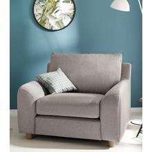 HOME AFFAIRE fauteuil Kolding, style nordique, avec des coussins amovibles et pieds en bois