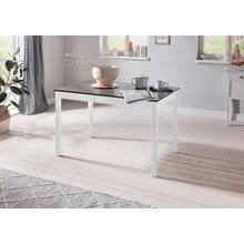 HOMEXPERTS table de salle à manger Milow, en bois massif 118 x 73 cm