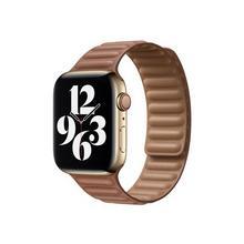 APPLE 44mm Leather Link - Horlogebandje voor smart watch maat M/L lederbruin (42 mm, 44 mm)