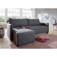 ATLANTIC HOME COLLECTION canapé d'angle, avec bloc ressorts, fonction lit, espacede rangement et récamière à montage double face
